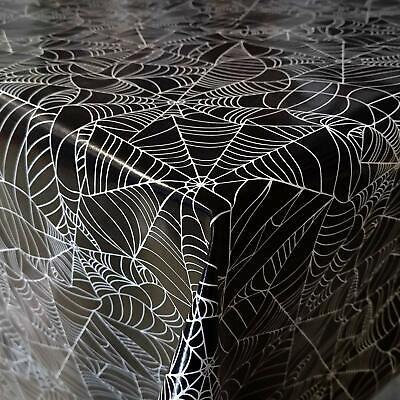 Wachstuch Tischdecke Wachstischdecke Halloween Spider Web Schwarz Größe - Halloween Spider Web