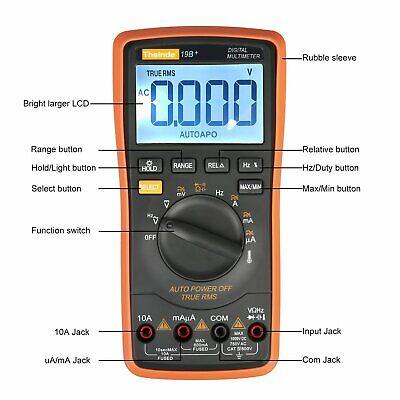 Digital Multimeter Voltmeter Meter Amp Ohm Volt Tester Ac Dc Autorange New