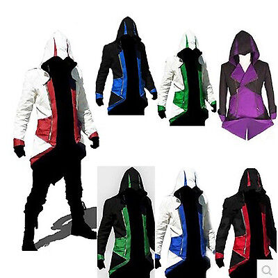 Cool Costums (2018 Cool Stylish Creed Hoodie Men's Cosplay For Assassins Jacket Coat Costume)