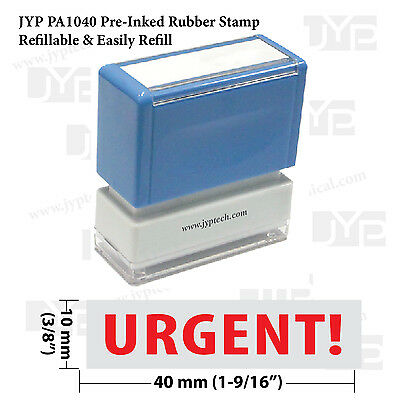 Urgent - Jyp Pa1040 Pre-inked Rubber Stamp Red Ink