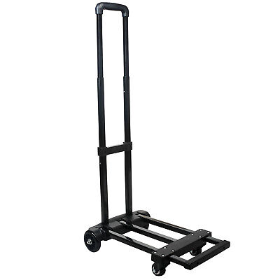 Folding Truck Aluminium Portable 200lbs Cart Dolly Push Hand Collapsible Trolley