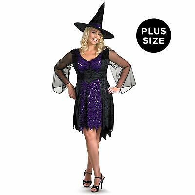 Brilliantly Bewitched Wicked Witch Black Fancy Dress Halloween Adult Costume