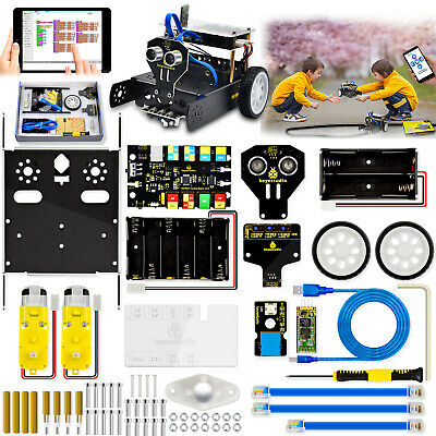 Keyestudio Metal Coding Robot Car Robotics Kit Set For Arduino Stem Toys Kids