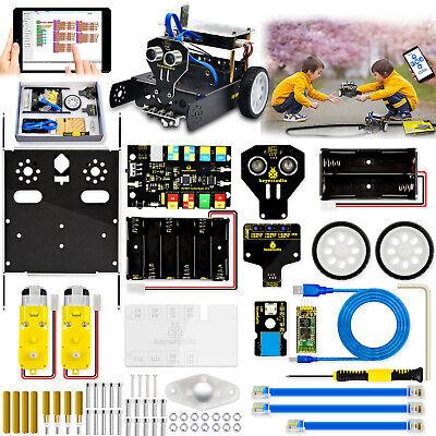 Keyestudio Metal Coding Robot Car Robotics Kit Set For Arduino Stem Toys Kids