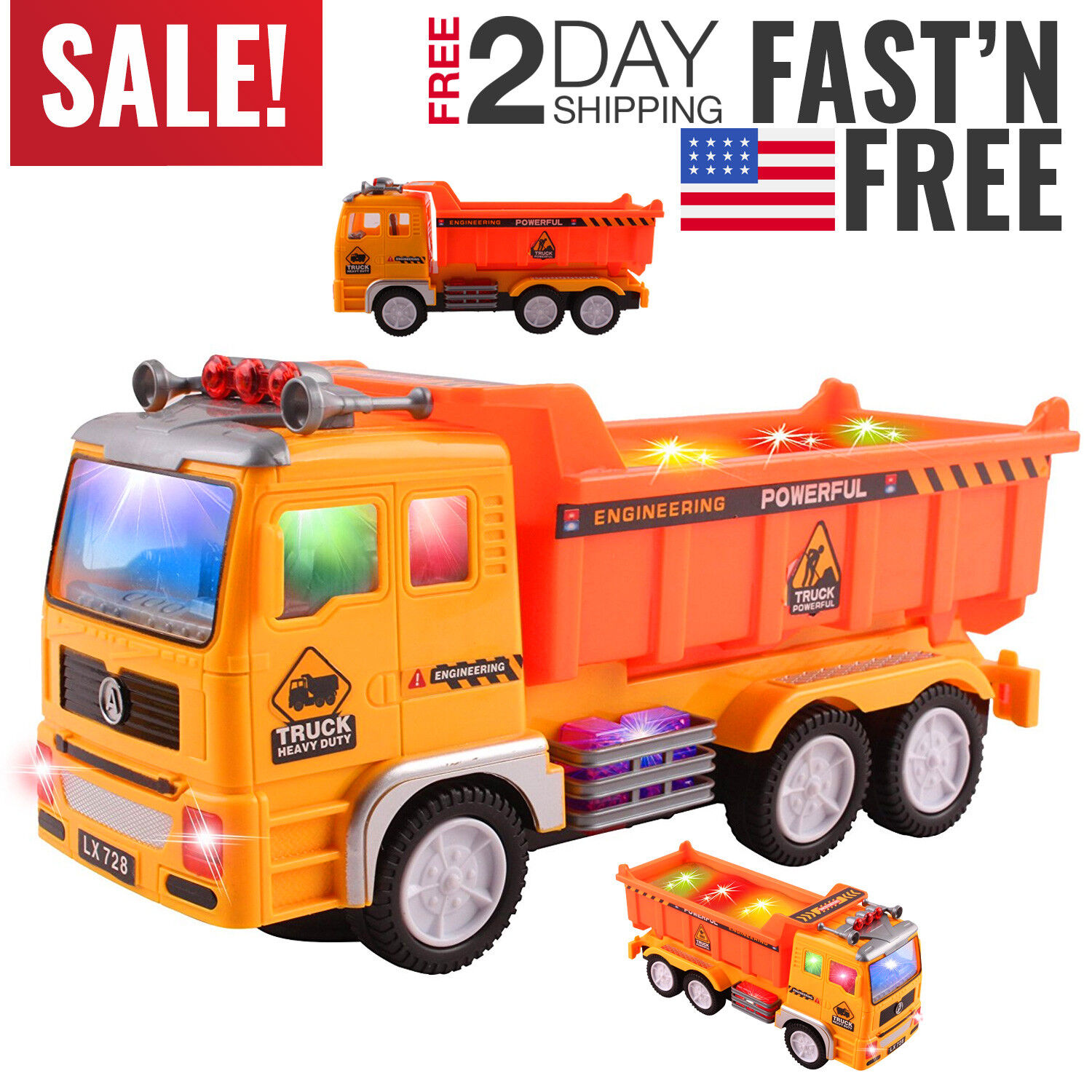 Toys for Boys Truck Kids Toddler Construction Car 3 4 5 6 7 8 Year