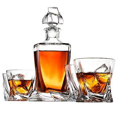 Crystal Whiskey Decanter Set - High-End 5-Piece Whiskey Decanter Set,  ()
