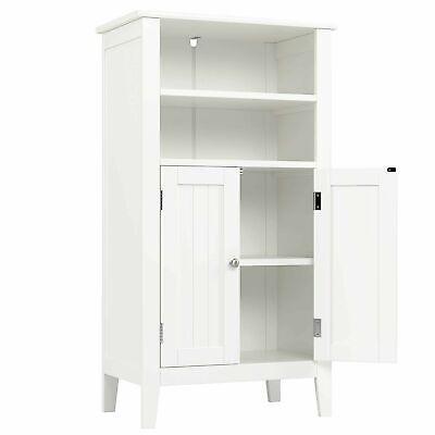 White Cabinet Sideboard Kitchen Cupboard Wooden Furniture Storage Unit 2 Doors