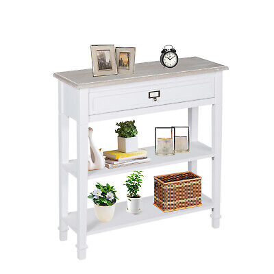 Wood Console Table Entryway Sofa Accent Hallway Living Room Furniture w/Drawer