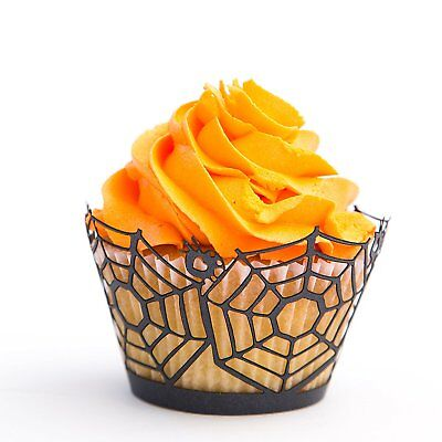 Halloween Cupcake Wrappers Spider Webs 50 Pc for Parties and Special Occasions - Cupcake For Halloween