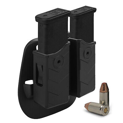 Universal Magazine Pouch Holster Double Dual Stack Mag for 9mm /.40 pistol - Double 9mm Magazine Pouch