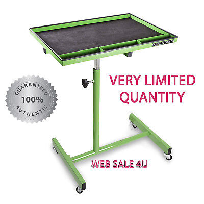OEM Tools 29 Inch Portable Tear Down Service Tray Steel Cart Mobile Work Table