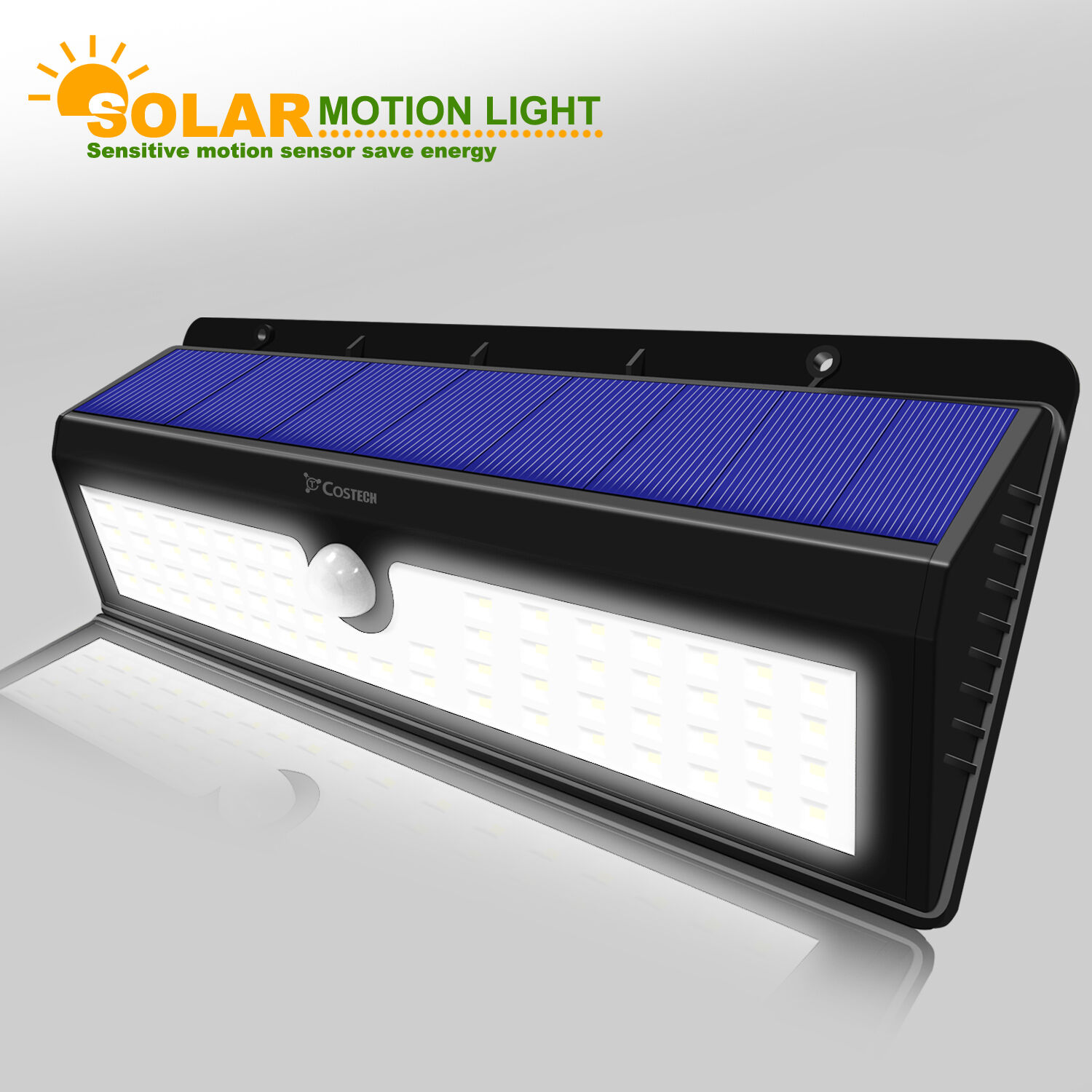 Outdoor Flood Lights Wont Turn Off: Solar Power Sensor Wall Light 62 LED Ultra Bright Wireless