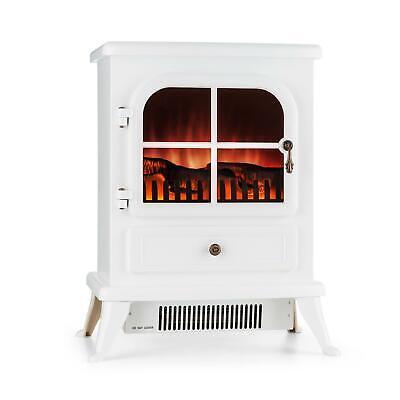 Chimenea Estufa Calefactor eléctrico 1850 W Llamas Eléctrica Sin humo Blanco