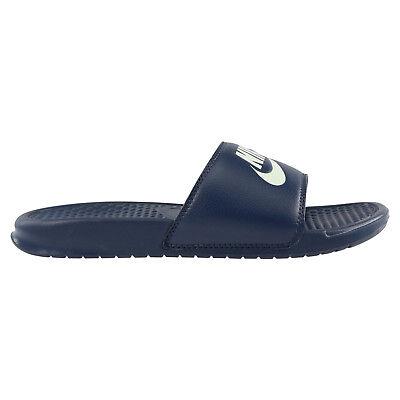 Nike Benassi Herren Badeslipper Schuhe Fitnessschuhe Dunkelblau