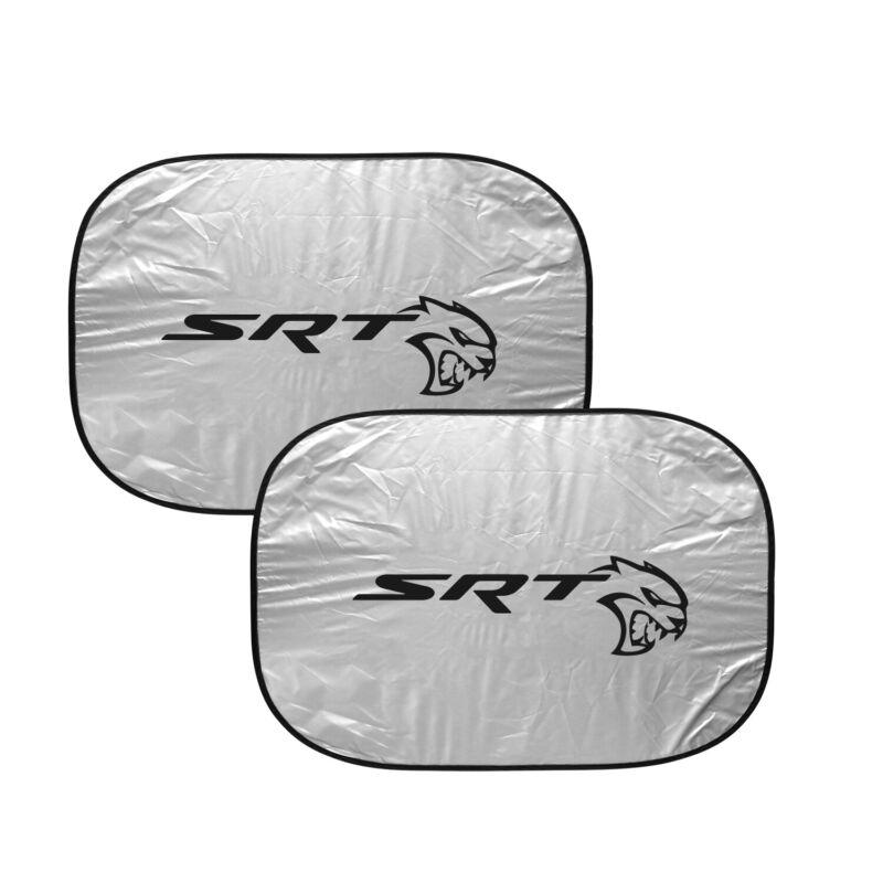 "Dodge SRT Hellcat Logo Dual Panels 28"" x 24"" Folding Windshield Sun Shade"