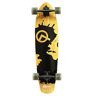 Quest Rorshack Bamboo Longboard Skateboard  Brand New Top Ra