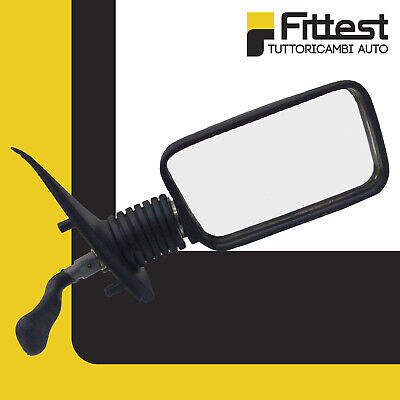 Specchietto Fiat Cinquecento 500 Specchio Retrovisore Destro DX Nero con Leva