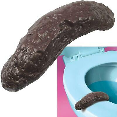 Hilarious Best Prank Gag Gift Fake Human Poop Turd Crap Realistic Gross Toilet