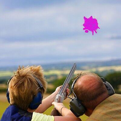 DIY Clay Pigeon Fill Gender Reveal Holi Color Skeet Powder Shooting Target PINK