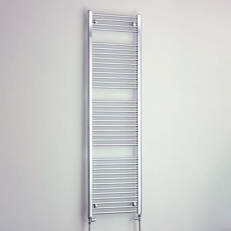 1700 mm High 450 mm Wide Chrome Heated Towel Rail Radiator Bathroom Flat Curved