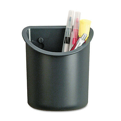 Universal Recycled Plastic Cubicle Pencil Cup 4 14 X 2 12 X 5 Charcoal 08193