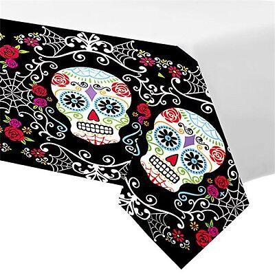 Jour des Morts Mexicain Halloween Calavera Couverts de Table Fête Soirée Nappe