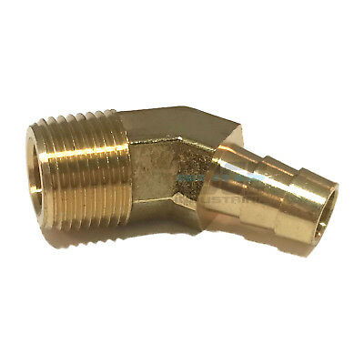 38 Hose Barb X 38 Male Npt Brass Elbow 45 Degree Pipe Fitting Thread Gas Fuel
