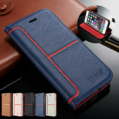 For Apple iPhone 11 Xs 8+ 7 6+ 5s Magnetic Flip Stand Cover Wallet Leather Case