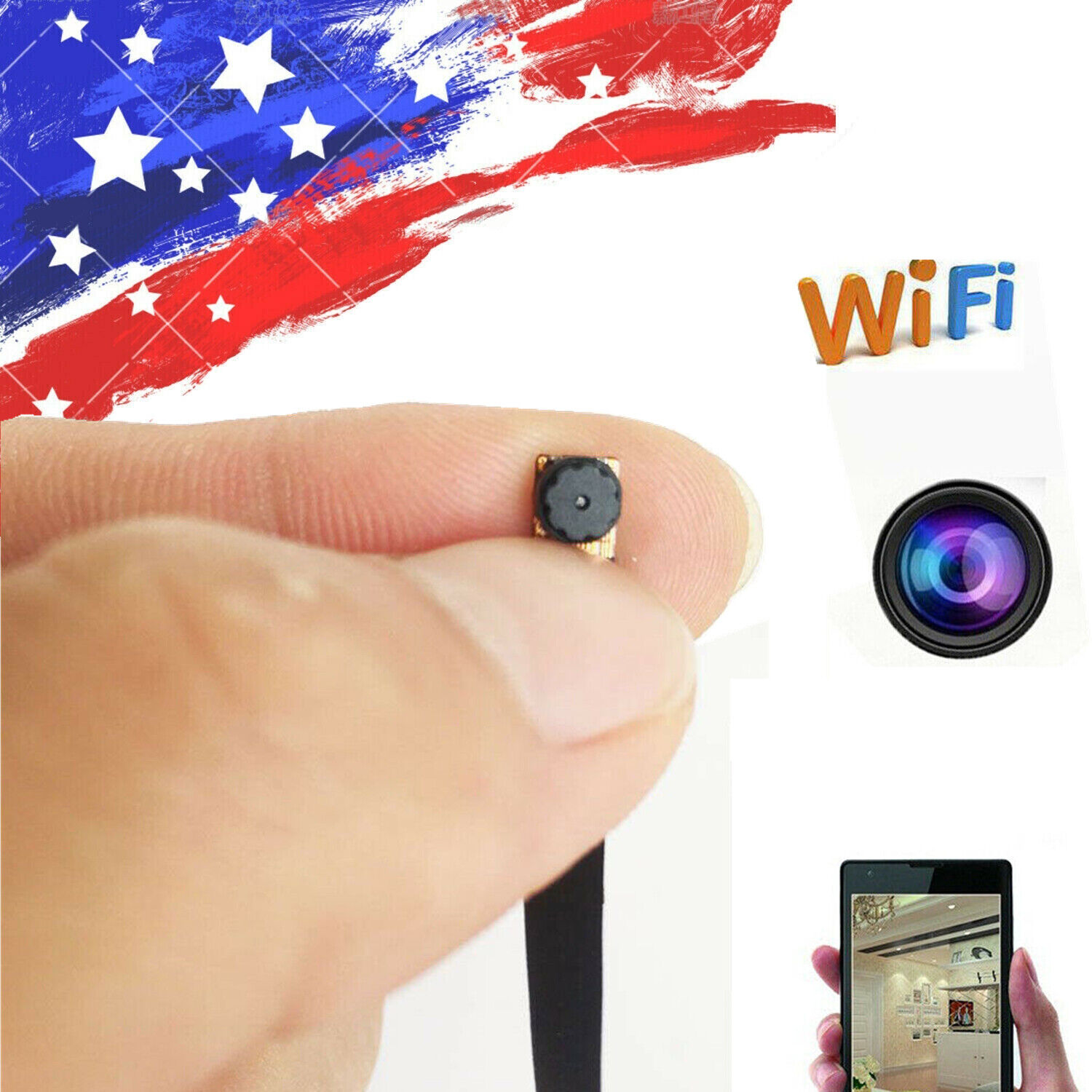 1080P HD Mini Camera Wireless WIFI IP Pinhole Home Security