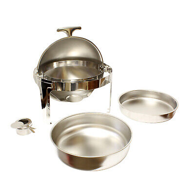 Lot45 | Chafing Dish Buffet Set – 6 Qt Chafing Dish Round Catering Trays ()