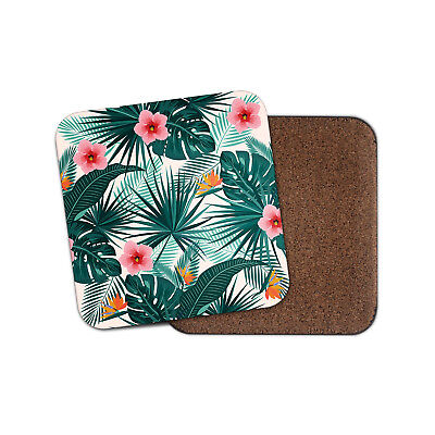 Tropical Leaves Coaster - Palm Tree Leaf Holiday Flower Pretty Cool Gift #14749 ()