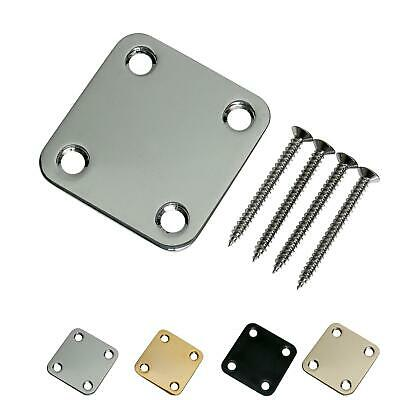 Square Electric Guitar Neck Plate with matching screws