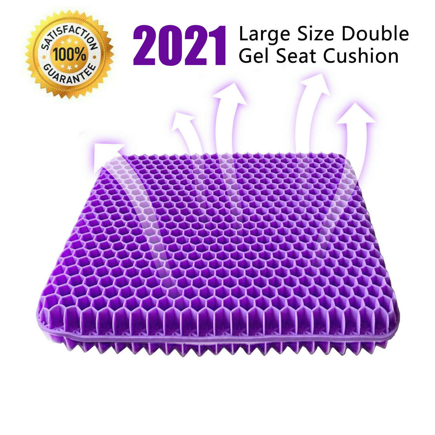 Best NEW GEL SEAT CUSHION DOUBLE THICK EGG SEAT CUSHION NON-SLIP COVER BREATHABLE DESIGN