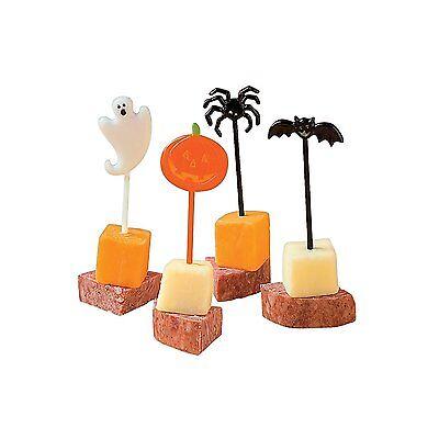 72 Plastic Halloween Food Picks - Halloween Picks