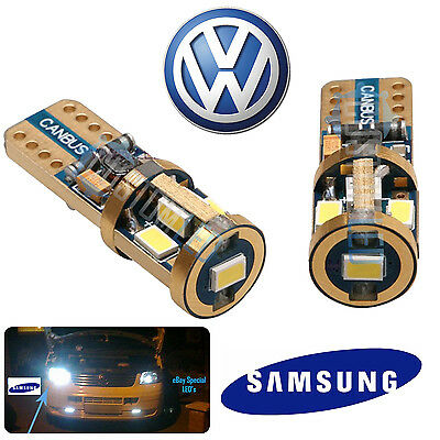 VW SUPER BRIGHT 14K Gold Samsung 501 LED Side Bulbs STRONG CANBUS - ERROR FREE
