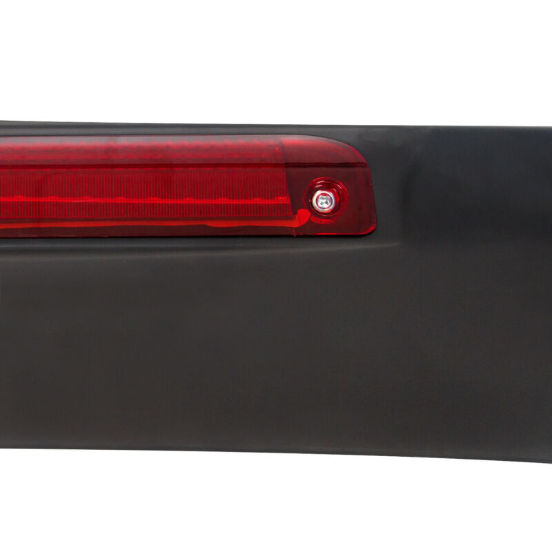 For 96-00 Honda Civic 2DR Primered Black Trunk Spoiler Wing LED Brake Light Lamp