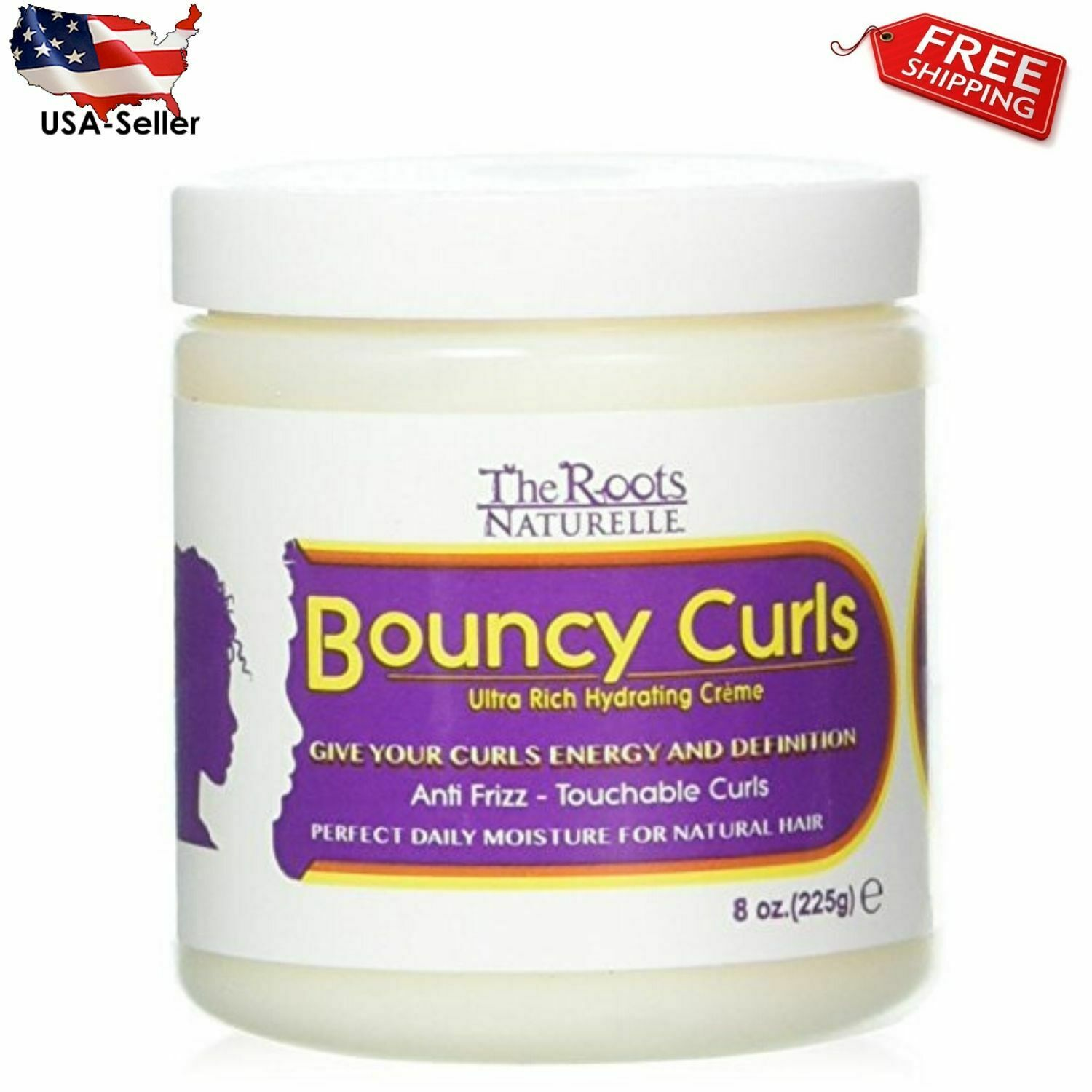 Curly Hair Products Bouncy Curls, Moisturizing Anti-frizz Cr