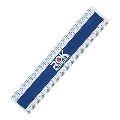 "Rok Hardware Measuring Plastic Flexi 6"" Easy Read English Metric 150 MM RULER"