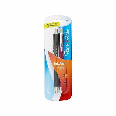 Paper Mate Inkjoy 700rt Ballpoint Pens Medium Fashion Black Ink 2pack