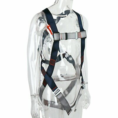 Safety Fall Protection Kit Full Body Harness With 6 Shock-absorbing Lanyard