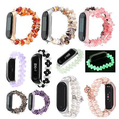 Agate Beads Gemstone Strap For Xiaomi Mi Band 3 4 5 Bracelet Jewelry Watch Band
