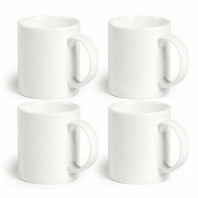 Momugs 12 oz Cup (4pcs), Plain Gloss White Ceramic Coffee Mug for Milk Tea  ()