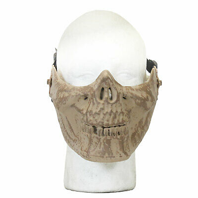 Bt Halloween Costumes (Airsoft Mask HalfFace Speckle Tan Skull Tactical Protective Halloween)