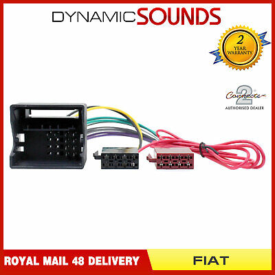 CT20FT02 Car Stereo Radio ISO Wiring Harness Adaptor Loom for Fiat