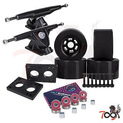 Cal 7 Longboard Flywheel 180mm Truck Bearing 90mm Black Skateboard Wheels