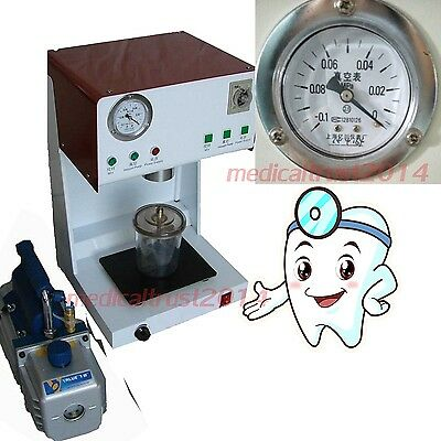 Denshine Dental Vacuum Mixer Mixing Vibrating Machine W External Pump Beaker