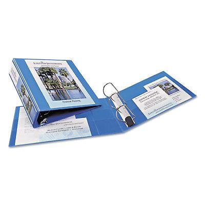 Avery Heavy-duty Non Stick View Binder Wslant Rings 3 Cap Light Blue 05601