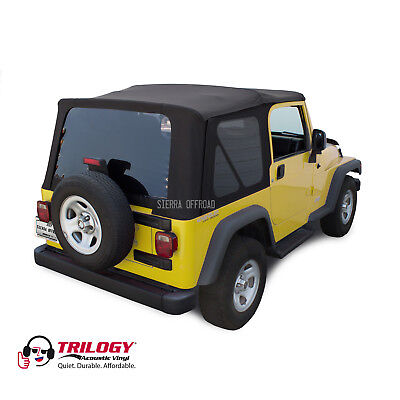 Jeep Wrangler TJ Soft top, 2003-2006, Tinted Windows, Black Twill Vinyl for sale  Shipping to South Africa