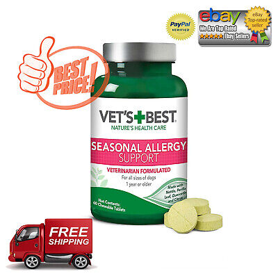Vet's Best Seasonal Allergy Relief | Dog Supplement | from Dry or Itchy (Best Rest Supplements)