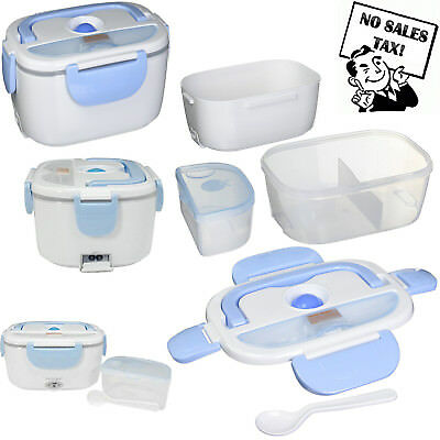 Portable Electric Heated Lunch Box Food Storage Warmer Container 40W 110V New